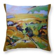 Napa Valley Perriwinkle Sky Throw Pillow