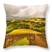 Napa Vineyard Throw Pillow