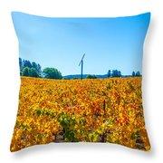 Napa Wine Capital Throw Pillow