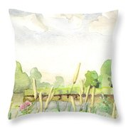 Napanee River West Throw Pillow