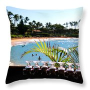 Napili Bay Maui Hawaii Throw Pillow
