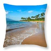 Napili Beach Paradise Throw Pillow