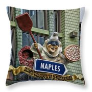 Naples Pizzeria Signage Downtown Disneyland Throw Pillow