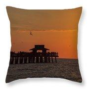 Naples Sunset Throw Pillow