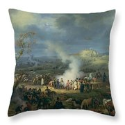 Napoleon 1769-1821 Visiting A Bivouac On The Eve Of The Battle Of Austerlitz, 1st December 1805 Throw Pillow