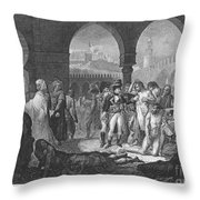 Napoleon At Jaffa, 1799 Throw Pillow