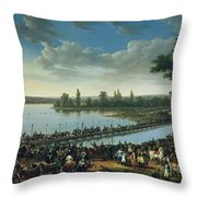 Napoleon Before The Battle Of Wagram, 6th July 1809 Throw Pillow