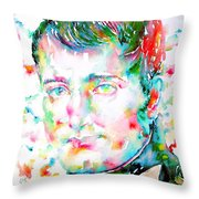 Napoleon Bonaparte - Watercolor Portrait Throw Pillow