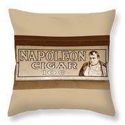 Napoleon Cigars Throw Pillow