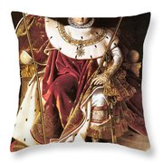 Napoleon I On His Imperial Throne Throw Pillow