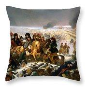 Napoleon On The Battlefield Of Eylau Throw Pillow