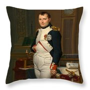Emperor Napoleon In His Study At The Tuileries Throw Pillow