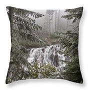 Narada Fall Mt Rainier II Throw Pillow
