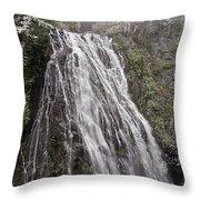 Narada Falls Mt Rainier Throw Pillow
