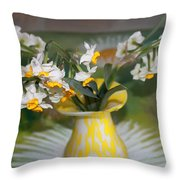 Narcissus In The Vase Throw Pillow