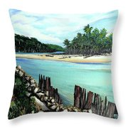 Nariva River And Cocos Bay Throw Pillow