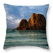 Narooma Again Throw Pillow
