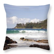 Narrawallee Beach On The South Coast Of New South Wales Australia Throw Pillow