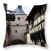 Narrow Alley In Bourbon Lancy Throw Pillow