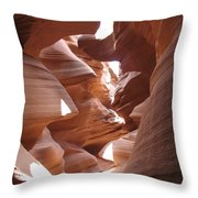 Narrow Canyon I Throw Pillow