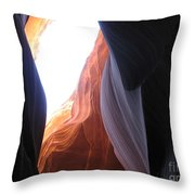 Narrow Canyon V Throw Pillow