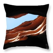 Narrow Canyon Vi Throw Pillow
