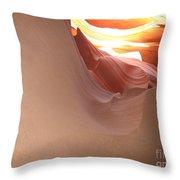 Narrow Canyon Vii Throw Pillow