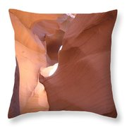 Narrow Canyon Viii - Antelope Canyon Throw Pillow