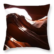 Narrow Canyon X Throw Pillow