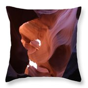 Narrow Canyon Xv Throw Pillow