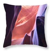 Narrow Canyon Xvi - Antelope Canyon Throw Pillow