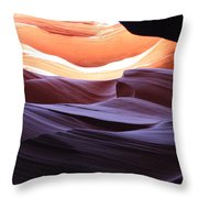 Narrow Canyon Xviii Throw Pillow
