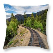 Narrow Gauge Tracks In Silver Country Throw Pillow