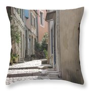 Narrow Lane - Arles Throw Pillow