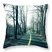 Narrow Path Throw Pillow