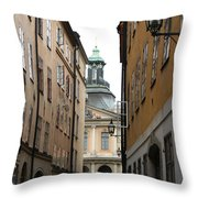 Narrow Road Stockholm Throw Pillow