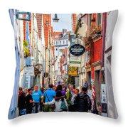 Narrow Street Art Throw Pillow