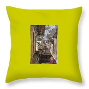 Narrow Street Throw Pillow