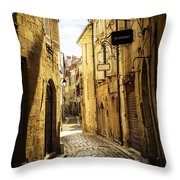 Narrow Street In Perigueux Throw Pillow by Elena Elisseeva