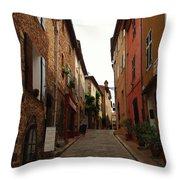 Narrow Street In Provence Throw Pillow