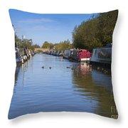 Narrowboats Throw Pillow