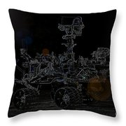 Nasa Vehicle System Vstb Rover On The Dark Side Throw Pillow