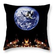 Nasa Company Picnic Throw Pillow