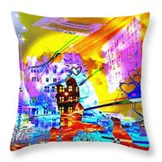 Nasdaq Who What When Where And Why Throw Pillow