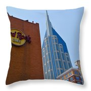 Nashville Downtown Throw Pillow