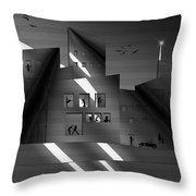 Nashville Music City Throw Pillow