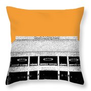 Nashville Skyline Grand Ole Opry - Orange Throw Pillow