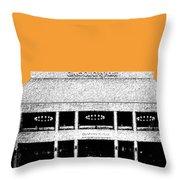 Nashville Skyline Grand Ole Opry - Orange Throw Pillow by DB Artist