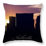 Nashville Sunset Throw Pillow