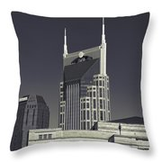Nashville Tennessee Batman Building Throw Pillow